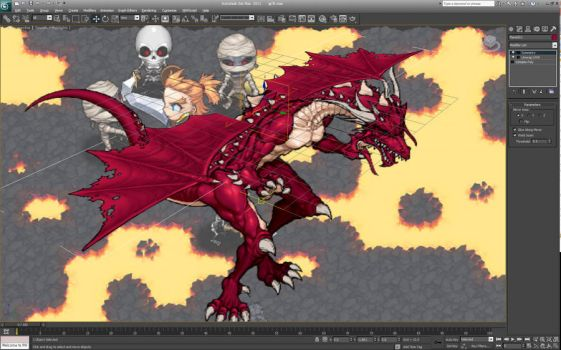 Making wing animation by windship