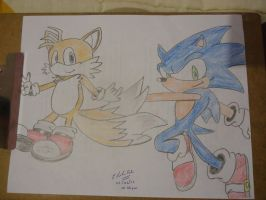 sonic y tails by napo1