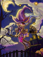 Winter Halloween Witch by ~Stupid-ism Reloaded by Suiish