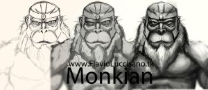 Monkian Sketch... first phase by flavioluccisano