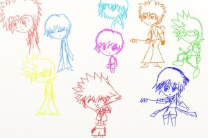 Kingdom Hearts Doodles 1 by TraverseLight