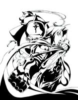 black and white _ Fullmetal by silversecrets