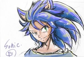 sonic human 1 by bbpopococo