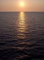 Sunrise on the Sea by Fabiuss