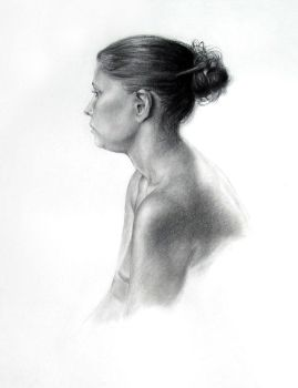 Charcoal study by Xelael