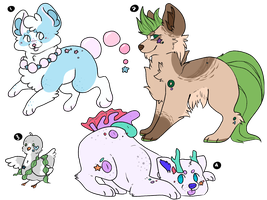 Ocean Critter collab adopts | closed by Flovvers