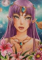 ACEO #48 Space Elf by MTToto