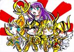color fast sketch chibi gold saint by yami11