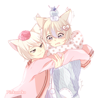 |OC| Oliver and Yuki by Pinkoneko
