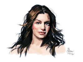Anne Hathaway by dumblyd0re