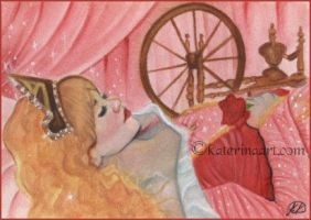 Sleeping Beauty - ACEO by Katerina-Art