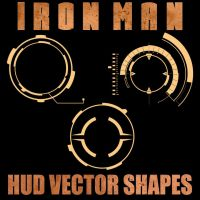 Ironman HUD Vector Shapes by Retoucher07030