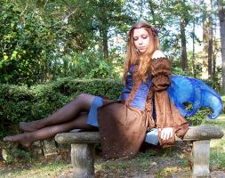 Brown and Blue Fae by GuiseMaker