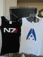 Mass Effect: N7 and Alliance Shirts by ChloroKitten