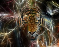 Time traveling tiger by 10nya