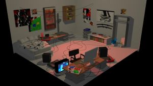 Dave Strider's room (3D MODEL) by thentherewasIA