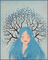 Blue tree by Val-eithel