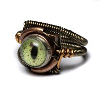 Reptile steampunk eye ring 4 by CatherinetteRings