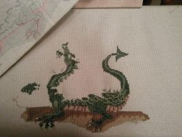 Dragon for a Stick WIP April 21 #2 by Moon-Crafter