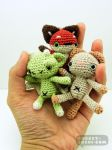Mini Amigurumi Plush Dolls by pocket-sushi