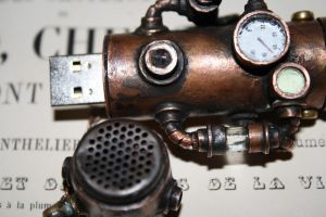 steampunk USB flash drive 4 by Marseau