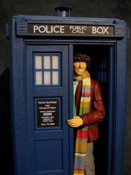 4th Doctor and the 70's Tardis by Police-Box-Traveler