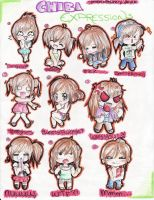 REQUEST: Chibi Expressions by PhoenixFeatherz