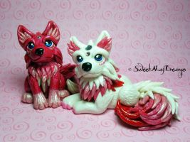 Valentines Wolves by SweetMayDreams
