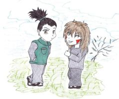 Shikamaru and Kiba by bibi-wish