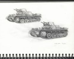 SDKFZ 101 PzKpfw - sketches by VVVp