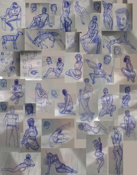 SkectDump 2016 Jan-Feb - Life Drawing by TG-Rob-555