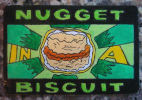 NUGGET IN A BISCUIT Magnet by RidiculousRandomHero