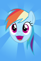 Dash Happy Face iPhone Wallpaper by M99moron