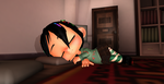 Sleeping Vanellope by Petalierre