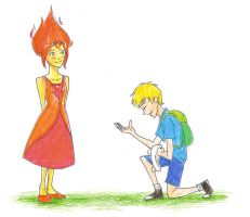 Finn and Flame Princess by compoundbreadd
