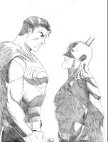 Batman And Superman 2008 by Ari-Spike-Nadelman