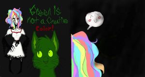 Green Is Not A Creative Color! by MonsterMJFan