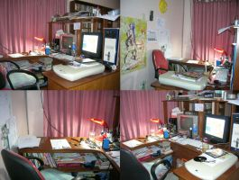 My Work Desk by hanukara