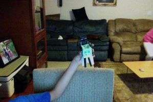 enderman with a slime on a  chair by Anthony2001