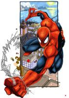 Spidey color wip by ONELOUSYCAT