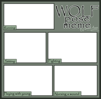 Wolf Pose meme PNG template by Gashu-Monsata