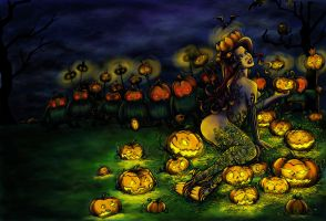 Birth of the Pumpkin Queen by AnaDiasArts
