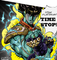 Star Platinum - Colored by Tanooki128