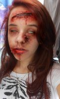 My Zombie Makeup! by cahrolzit