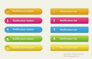 NOTIFICATION BAR AND BUTTON FREE PSD by FreePSDDownload