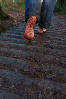 Winter barefoot walk 7 by PhilsPictures