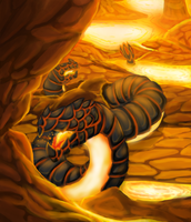 Commission- Khaos Fire Wyrms by Cryophase