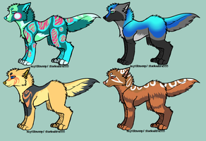 Simple Canine Adopts by MystikMeep