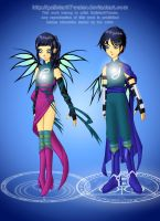 Twin Guardians by Galistar07water