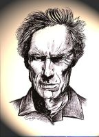 Clint Eastwood line drawing by The-Mattness